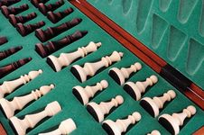 Free Chess Pieces On Box Stock Images - 20389984