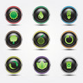Free Eco Glossy Button Royalty Free Stock Photos - 20390588
