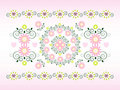 Free Horizontal Ornament With Flower Royalty Free Stock Photo - 20395175