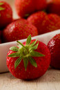 Free Strawberries On Wooden Table Royalty Free Stock Images - 20396999