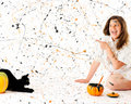 Free Delighted With Your Halloween Message Stock Images - 20398424