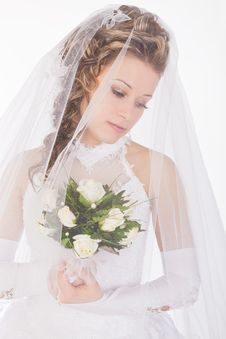 Free Studio Portrait Of A Young Bride Stock Image - 20390171