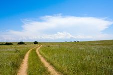 Free Countryside Road In Steppe Stock Photos - 20390423