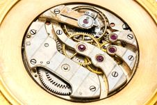 Free Inside Working Of A Gold Watch Royalty Free Stock Images - 20390479