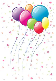 Colourful Balloons. Vector Illustration. Royalty Free Stock Images