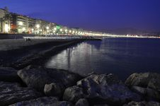Free Promenade In Nice At Night Royalty Free Stock Photo - 20391005