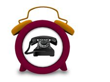 Free Telephone In A Clock Royalty Free Stock Photo - 20391125