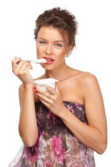 Free Strawberry Yogurt Stock Image - 20391361