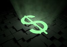 Glowing Dollar Symbol Royalty Free Stock Photography