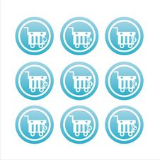Free Blue Shopping Baskets Signs Stock Photos - 20391543