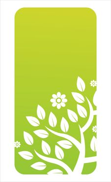 Free Glossy Green Floral Banner Stock Images - 20391544