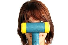 Free Girl With Hammer Stock Image - 20393141