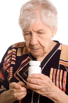 Free The Elderly Woman With Tablets Stock Photography - 20393942