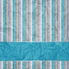 Free Striped Background With Banner Royalty Free Stock Photo - 20393975