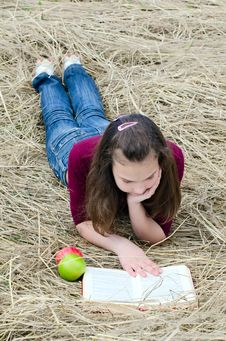 The Girl With An Apple Royalty Free Stock Photo