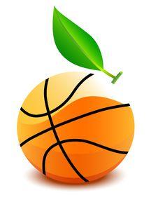 Basketball Ball - An Orange Stock Image