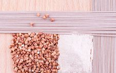 Buckwheat Products Royalty Free Stock Photos