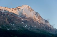 Eiger North Face In The Evening Stock Image