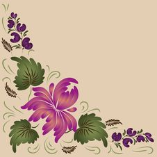 Flowers On A Beige Background Royalty Free Stock Photo