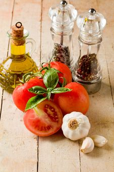 Italian Main Ingredients Stock Photos