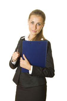 Free Businesswoman Holding Folder Stock Photos - 20394993