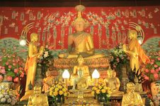 Statue Of A Buddha In Church Royalty Free Stock Images