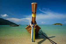 Free One Boat On The Sea Royalty Free Stock Photography - 20395747