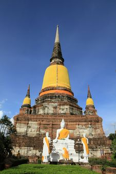Free Wat Yai Chaimongkol, Ayuthaya, Thailand. Stock Photography - 20395772