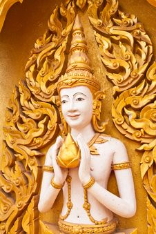 Free Angel Decoration Of Buddhist Temple Tilted Out Royalty Free Stock Image - 20396316