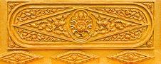 Free Golden Thai Pattern Royalty Free Stock Image - 20396376