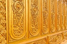 Free Golden Thai Pattern Close Up Tilted Out Royalty Free Stock Photos - 20396428
