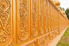 Free Golden Thai Pattern Tilted Out Stock Photography - 20396492