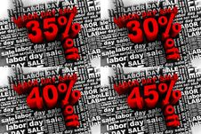 Labor Day Sale 2 Royalty Free Stock Image