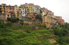 Italian Coastal Village Corniglia Royalty Free Stock Image