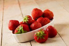 Free Strawberries On Wooden Table Stock Photography - 20396872