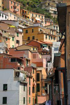 Free Colourful Buildings Of Riomaggiore, Italy Stock Photos - 20396923