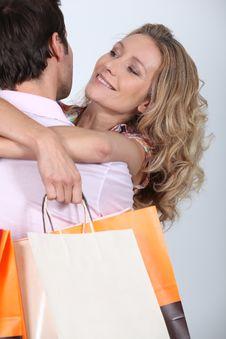 Free Couple With Bags Stock Photo - 20396980