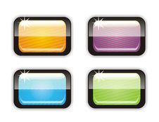 Free Four Glossy Buttons Stock Photo - 20397390