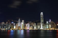 Free Hong Kong Skyline At Night Stock Photo - 20397510