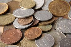 Free Coins Of The Different Countries Royalty Free Stock Photos - 20397608