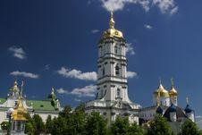 Holy Dormition Pochayiv Lavra Stock Photo