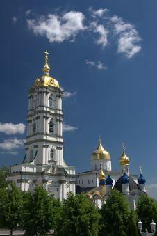 Holy Dormition Pochayiv Lavra Stock Photography