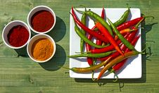 Assorted Chillies Stock Images