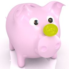 Free Isolated Piggy Bank Stock Photography - 20399592