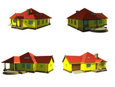 Free 3d House Project Isolated On White Stock Photography - 20399692