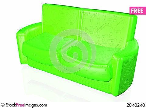 Sofa 3D Stock Photo
