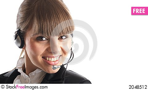 Beautiful Customer Representative Stock Photo