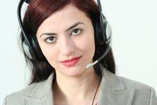 Free Woman Operator Royalty Free Stock Photos - 2040958