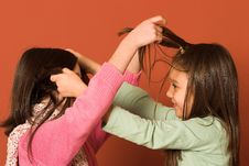 Free Girls Touching Hair Royalty Free Stock Images - 2046609