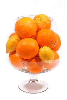 Free Oranges And Lemons In Goblet Royalty Free Stock Photography - 2047897